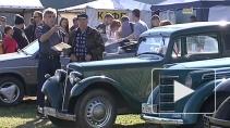 Автомобиль, работающий на еловых шишках, открыл фестиваль ретротехники