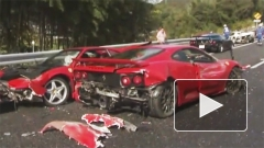 В одном ДТП разбились 8 Ferrari, 3 Mercedes-Benz и Lamborghini