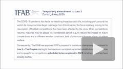 IFAB продлил правило о пяти заменах в футболе на следующий сезон
