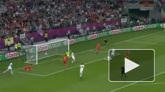Первый тайм матча Россия-Чехия на Евро-2012 завершился со счетом 2:0