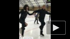 Плющенко научил Бузову кататься на коньках