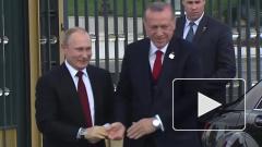 """Путин приедет в Турцию на открытие """"Турецкого потока"""""""