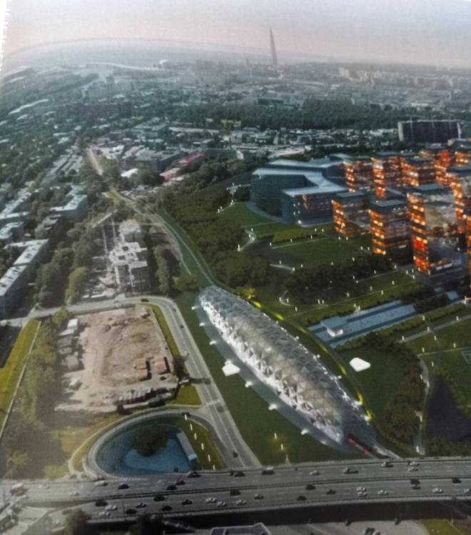 """В сети опубликовали проект новой станции возле """"Лахта-центра"""""""