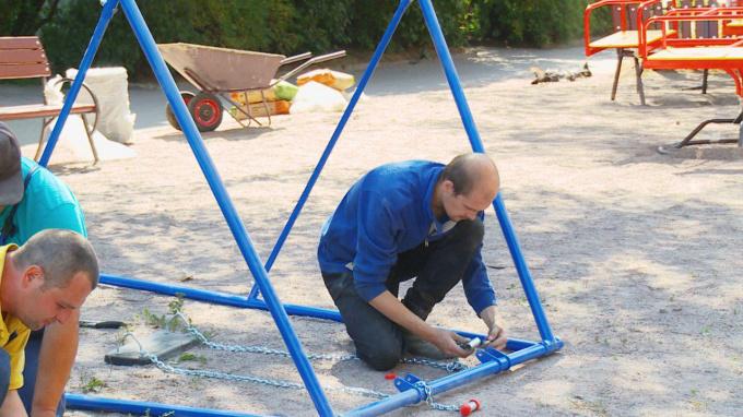 Детский игровой комплекс установлен во дворе на Приморской,22