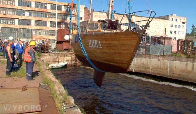 Выборгский судостроительный завод отремонтировал яхту