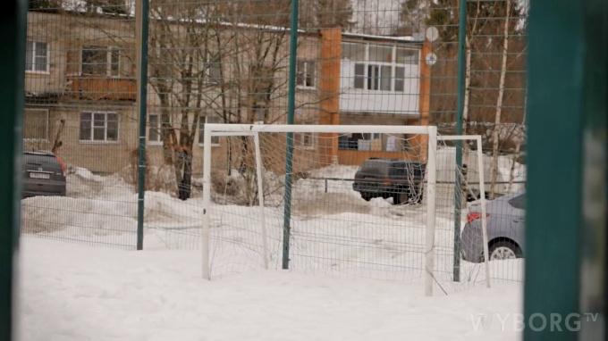 Спортивная площадка в Кировских дачах в Выборге