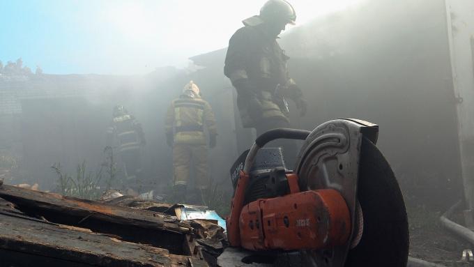 пожар на Морской набережной в Выборге