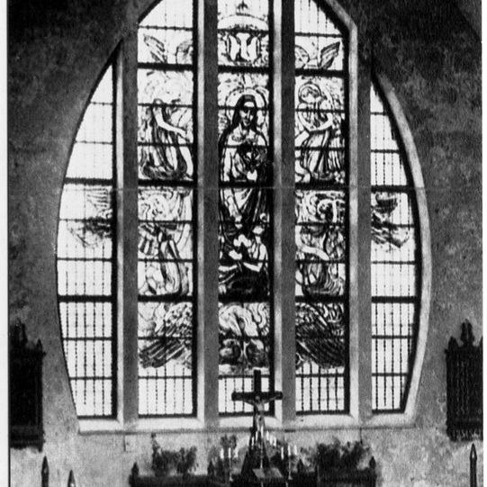 Витраж кирхи Святой Марии Магдалины в Приморске