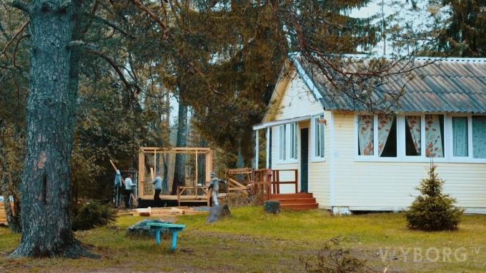 Детский лагерь Спутник в Выборгском районе