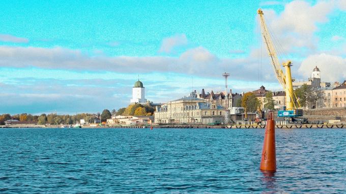 Выборгский замок с акватории выборгского залива яхтинг