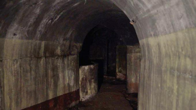 Коридоры порохового погреба у мызы Хертуала