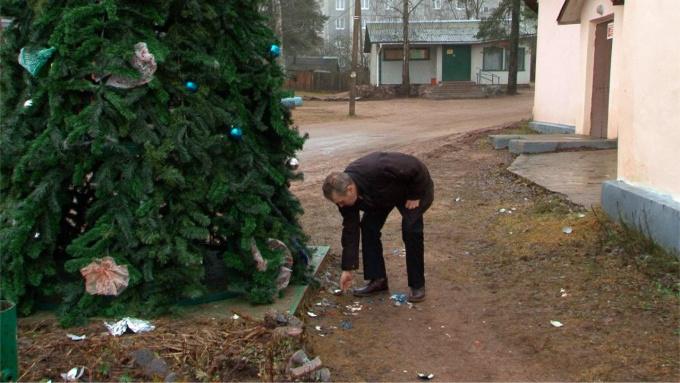 В поселке Гаврилово вандалы разгромили новогоднюю ёлку