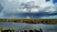 Шторм в Петербурге завершился радугой