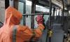 Фотофакт: в Выборгском районе дезинфицируют общественный транспорт