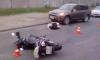 В Петербурге 27-летнего мотоциклиста насмерть раздавил кроссовер на проспекте Девятого Января
