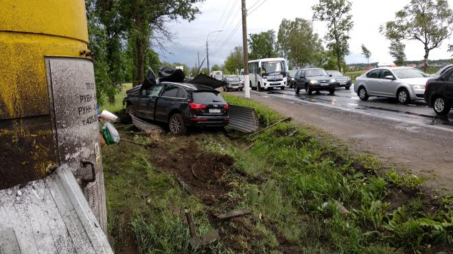 Во время аварии на Петергофском шоссе за рулем был офицер Минобороны