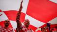 Хорватские болельщики развернули на Триумфальной площади...