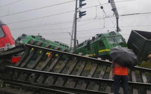 После столкновения поездов на Малой Балканской пострадал один человек