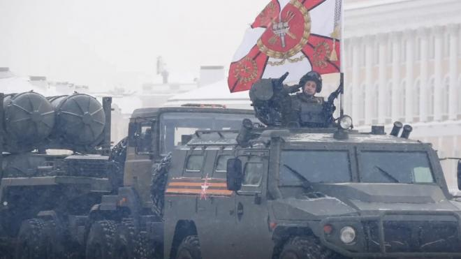 В Петербурге 19 апреля пройдёт репетиция военного парада на Дворцовой площади