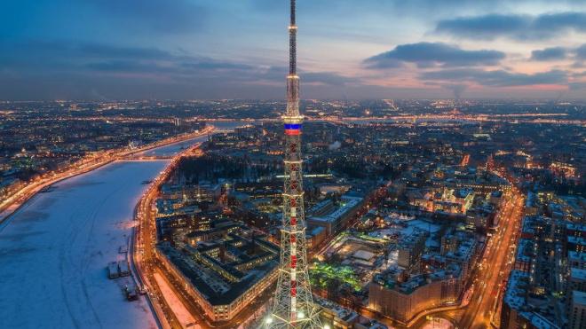 В Петербурге художественную подсветку телебашни обновят за 133 млн рублей