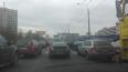 На проспекте Маршала Жукова скопилась огромная пробка