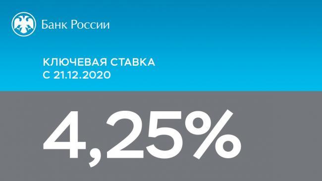 ЦБ РФ сохранил ключевую ставку на прежнем уровне – 4,25% годовых