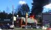 Загоревшийся в Горелово автомобиль чуть не спалил «Макдональдс»