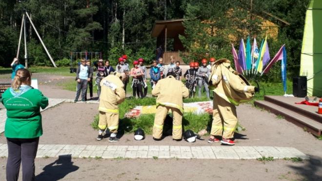 В Выборгском районе Ленобласти прошел пожарно-спасательный конкурс