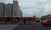 На проспекте Просвещения трамвай сошел с рельсов