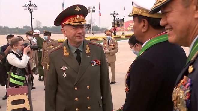 Замминистра обороны России провел переговоры с главнокомандующим ВС Мьянмы
