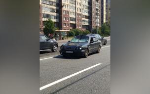 Mercedes сбил велосипедиста на Шлиссельбургском проспекте