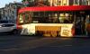 В Петербурге новый трамвай сошёл с рельсов
