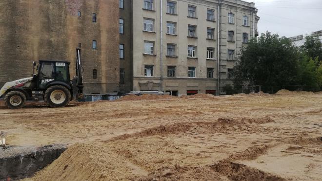 В Петербурге начали благоустраивать сквер Цоя