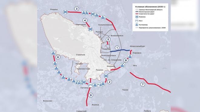 Ленобласть планирует построить вторую кольцевую магистраль вокруг Петербурга