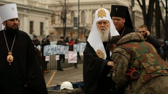 С патриарха Украинской православной церкви Киевского патриархата Филарета сняли анафему
