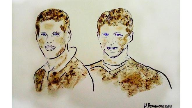 Из князи в грязи: художница написала портрет Кокорина и Мамаева грудью и грязью
