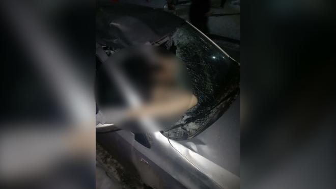 В Мурино девушка упала с высоты на автомобиль