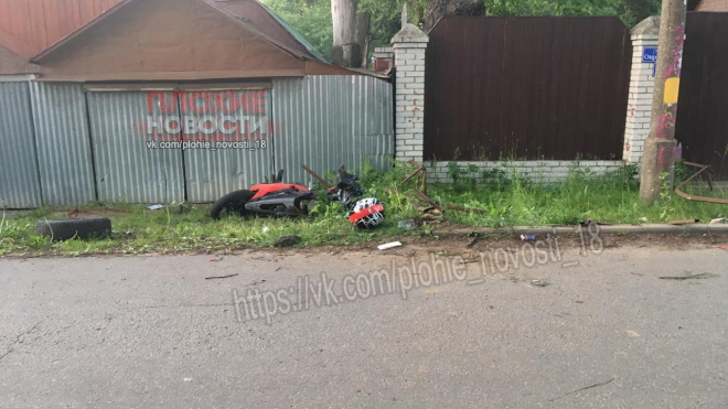 В Подмосковных Химках мотоциклист погиб в ДТП, объезжая кошку