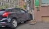 Женщина на иномарке протаранил аптеку на Васильевском из-за ошибки водителя-мужчины
