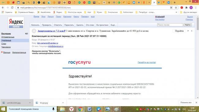 В России зафиксирована онлайн атака мошенников, действующих под видом выплат с Госуслуг