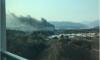 Появились фото крупного пожара рядом с Олимпийской деревней в Канныне