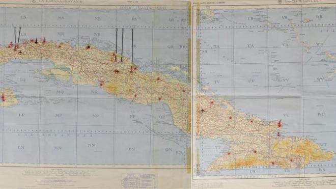 Карта Кеннеди с советскими военными объектами на Кубе ушла с молотка за 113,3 тысяч долларов