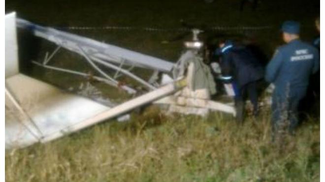Под Пензой потерпел крушение легкомоторный самолет