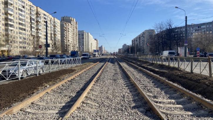 После ремонта на проспекте Энгельса восстановили движение трамваев