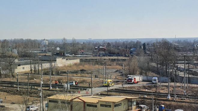 "В аварии на ж/д переезде у станции ""Лигово"" погибла женщина"