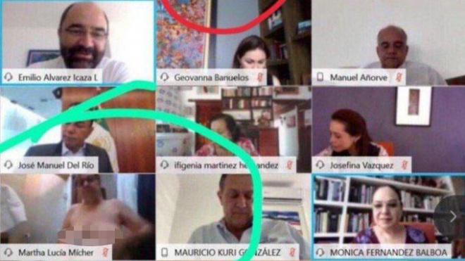 Сенатор Мексики случайно показала голую грудь во время переговоров в Zoom