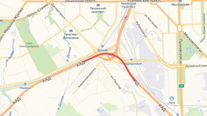 На участке КАД между развязками с Таллинским шоссе и Дачным проспектом перекроют движение