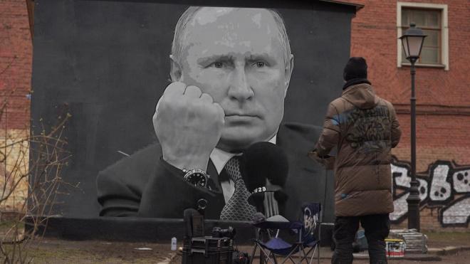 Граффити Путина с кулаком в Петербурге не было