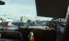 Сломанные светофоры собрали огромную пробку на Петергофском шоссе