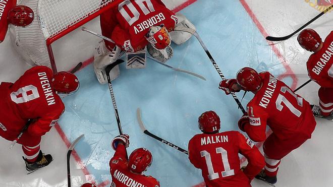 Сборная России по хоккею всухую обыграла Чехию и возглавила свою группу
